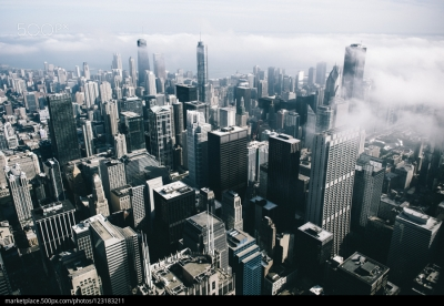 500px Photo ID: 123183211 - The fog coming in over Chicago.